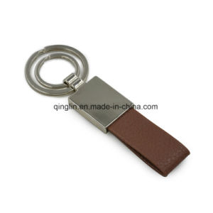 Custom Zinc Alloy and Leather Key Chain for Promotion (PQ-16047)