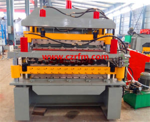 Three Layer Ibr Steel Roofing Sheet Roll Forming Machine pictures & photos