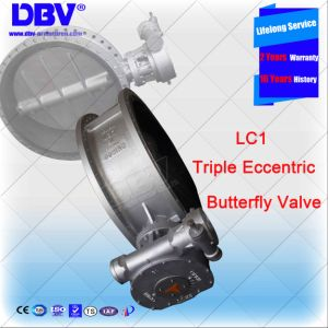 Industrial Valve Flanged Cryogenic Eccentric Butterfly Valve