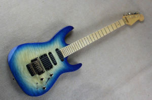 Hanhai Music/Blue Electric Guitar with Active Pickups (USA PC1) pictures & photos