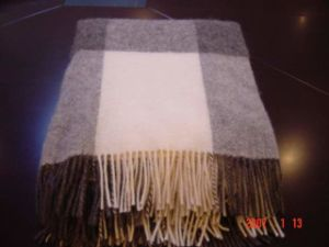 Wool Blanket with Fringe