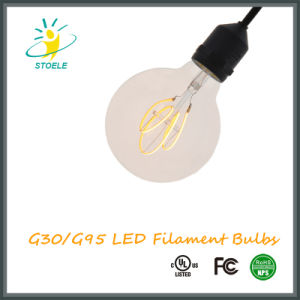 G30/G95 5W Dimmable LED Filament Bulb Retro Style