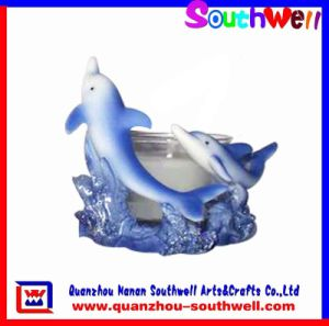 Polyresin Dolphin Candle Holders (NW1233J)