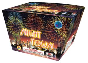 (Night town) 25shots Ground Cake Firework