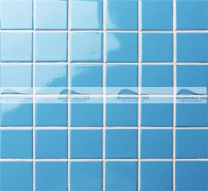 48X48mm Blue Glazed Glossy Ceramic Pool Mosaic Tile (BCK626)