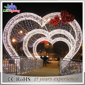 Holiday Waterproof Led Christmas Love Decoration Arch Lights