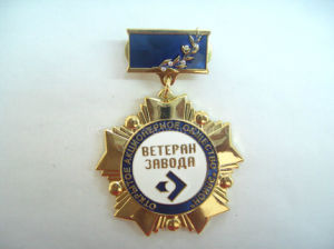 Enamel Military Safety Pin Medals with Rhinestone