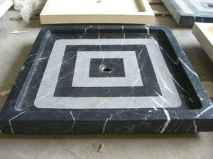 Nero Marquina Marble Shower Pan