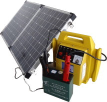 Solar Portable System (ZZ-500-PS) With 100W Solar Panel