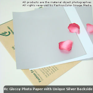 260g RC Glossy Inkjet Photo Paper Silver Back Unique