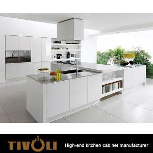 Australia Project Simple Design White Lacquer Hotel Kitchen Cabinets TV-0117