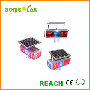 3 Sets LED Solar Hazard Flashing Warn Lamp