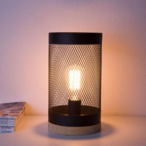 Mesh Cage Vintage Bedside Table Lamps