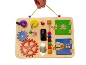 Sewing kit set Busy board details Montessori toy