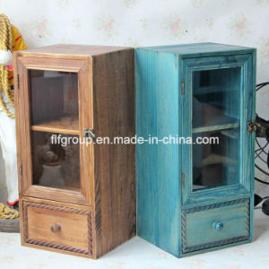 Customized Vintage Natural Wood Cupboard-Shaped Box for Decoration pictures & photos