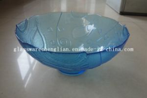 Solid Color Round-Shape Glass Plate (P-019) pictures & photos