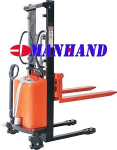 Narrow Leg Semi Electric Stacker (Adjustable Forks)