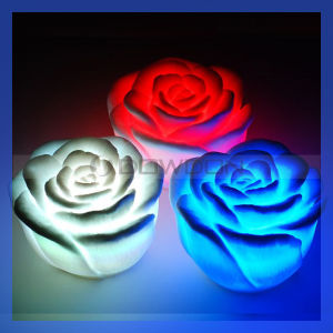 Rose Shape LED Night Light/ Night Lamp for Christmas (ROSE-01) pictures & photos