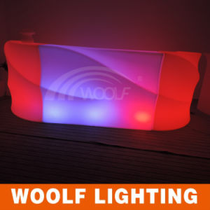 China Brand Woolf Company LED Illumated Bar Counter Furniture
