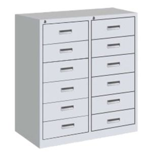 12-Drawer Office Metal Cabinet Sliding Locker pictures & photos