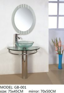 Tempered Glass Basin with Mirror