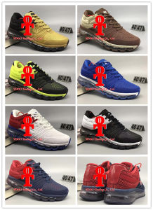 Air Cushion Shoes 2017 Kpu Running Shoes Flyline Air Cushion Men′s Sneakers 100% Original Cheap Walking Boots Sport Shoes Us 40-47 pictures & photos