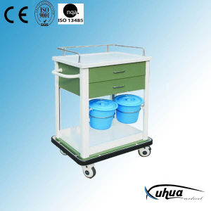 Hospital Medical Treatment Trolley with Buckets (N-9) pictures & photos