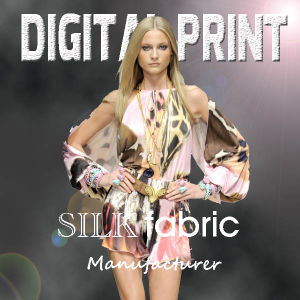 Digital Printed Silk Fabric pictures & photos