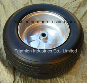 18X 8.50-10 8.50-8 Ribbed Flat Free Trailer Tire