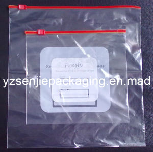 Slider Zip Grip Reclosable Bag