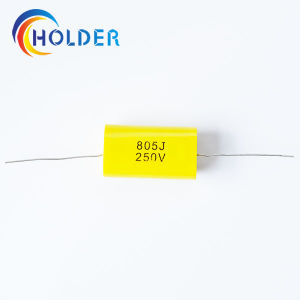 Metallized Polypropylene Film Capacitor (Cbb20 805j 250V) with Copper Wire for Running Axial All Cbb20 Series