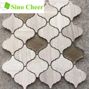 Stone Lantern Mosaic Tile Backsplash