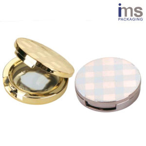 Round Plastic Blush Compact Case pictures & photos