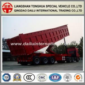 3-Axles Heavy Cargo Transport Rear Self-Dumping/Tipper Semi Trailer