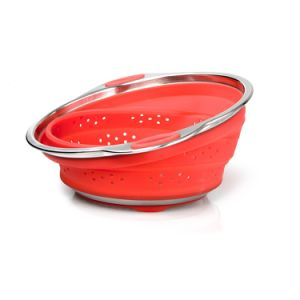 High Quality FDA/LFGB Standard Collapsible Silicone Colander