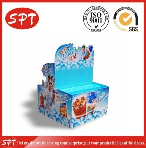 Colorfull Vittel Promotion Display Rack, Floor Cardboard Display for Product