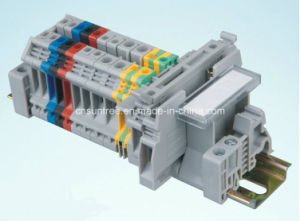 UK16n Screw Terminal Block UK DIN Rail Terminal Block pictures & photos