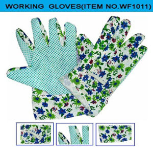 Work Gloves with Printed Fabric Cuff (WF011)