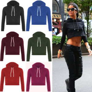 New Womens Long Sleeve Crop Top Stitch Pullover Sweatshirt