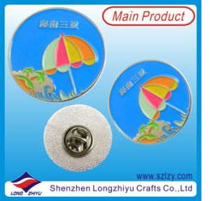 Soft Enamel Round Collar Pin for Travel Gift (LZY-10000376) pictures & photos