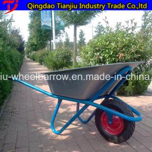 America Market 100L 7 Cbf Aluminum Alloy Handle Plastic Tray Wheel Barrow Wh7601 From Wheelbarrow Manufacturer pictures & photos
