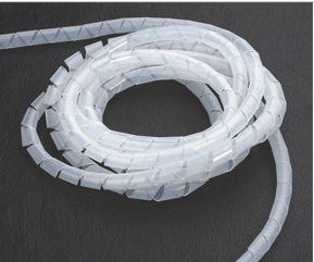 White PE PVC Spiral Wrapping Bands pictures & photos