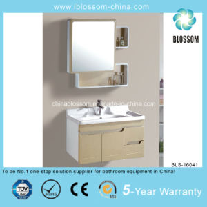 Golden Painted PVC Board Bathroom Cabinet (BLS-16041) pictures & photos