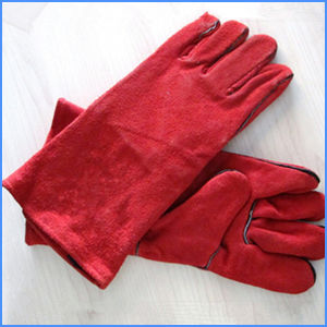 Cow Split Leather Safety Working Gloves/Welding Gloves pictures & photos