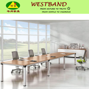 High Quality Modern Metal Wooden Conference Boardroom Table (WB-Double)