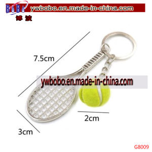 Racket Ball Key Ring Chain Alloy Keychain Keyfob Wedding Gift (G8089) pictures & photos