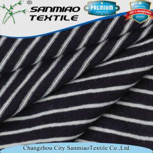 920b739c45 China 100 Cotton Striped Jersey Knit Denim Fabric for T-Shirts - China  Knitted Striped Jersey Fabric