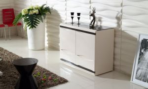 White Melamine Modern Bathroom Cabinet Kitchen Cabinet (CG-147B) pictures & photos