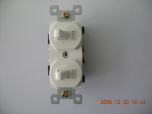 15 AMP, 120/277 Volt, Two Single-Pole AC Combination Switch pictures & photos