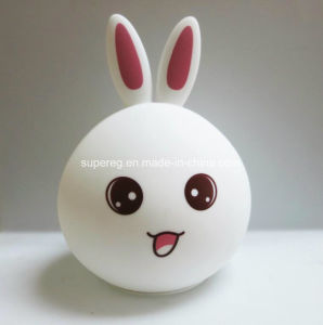 7 Colors LED 3D Adorable Rabbit Shape Night Light pictures & photos